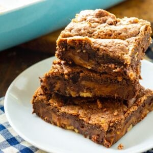 Cake Mix Chocolate Caramel Bars