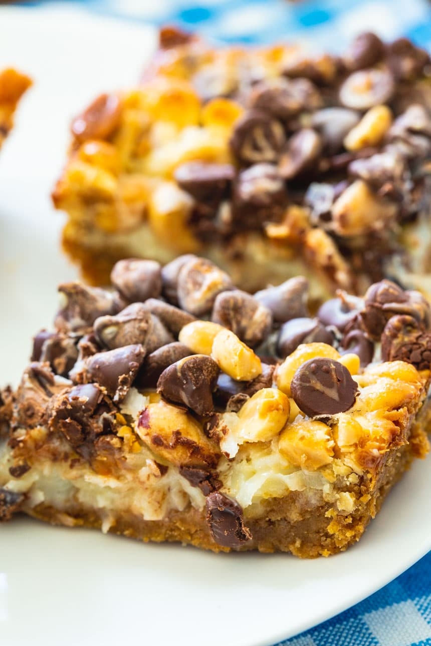 Chocolate and Peanut Graham Bars with Coconut