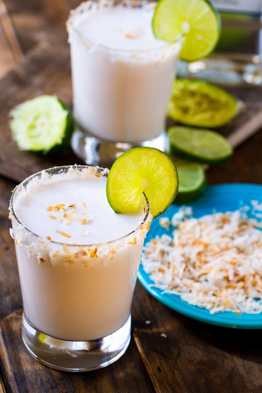 Two Coconut Margaritas.