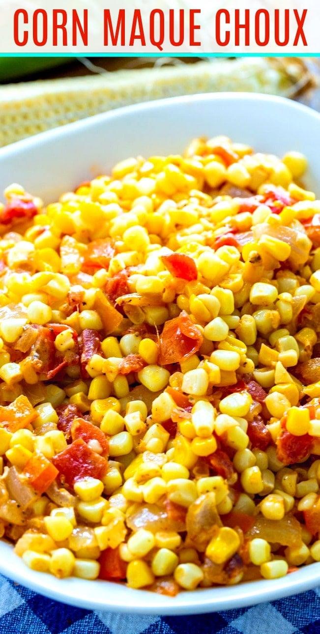 Close-up of Corn Maque Choux