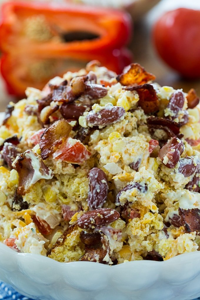 Southern Cornbread Salad Spicy Southern Kitchen