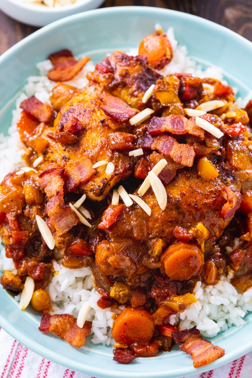 Country Captain Chicken with almonds