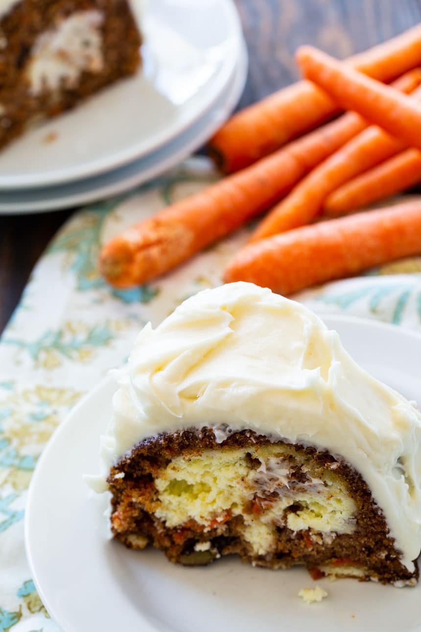 Cream Cheese Filled Carrot Cake