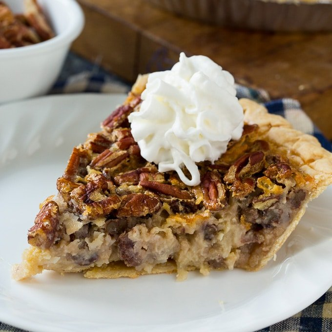 Cream of Coconut Pecan Pie