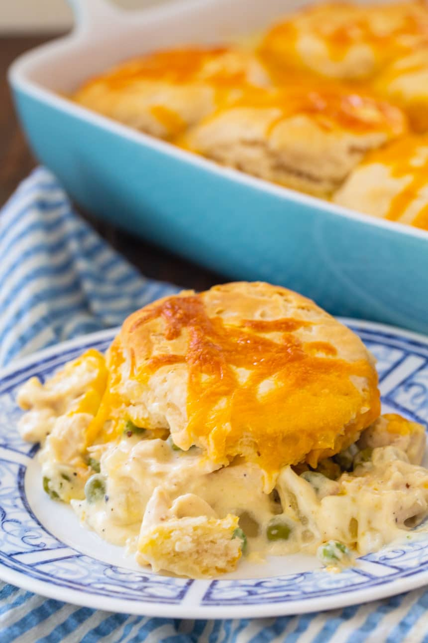 Easy Creamed Chicken and Biscuits