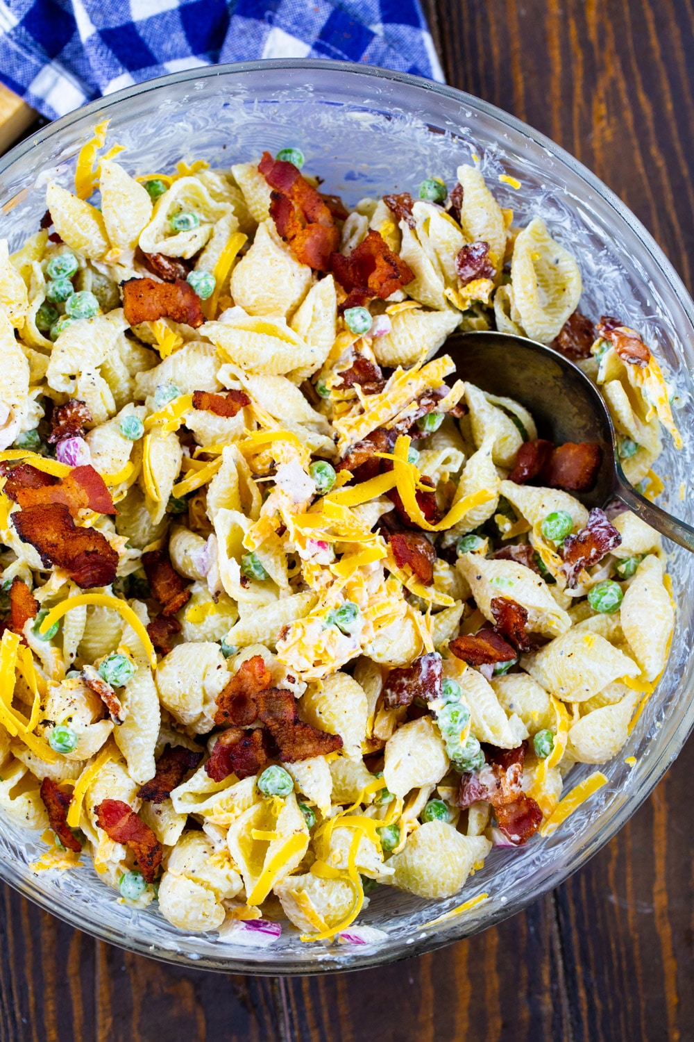 Pasta Salad in a large mixing bowl.