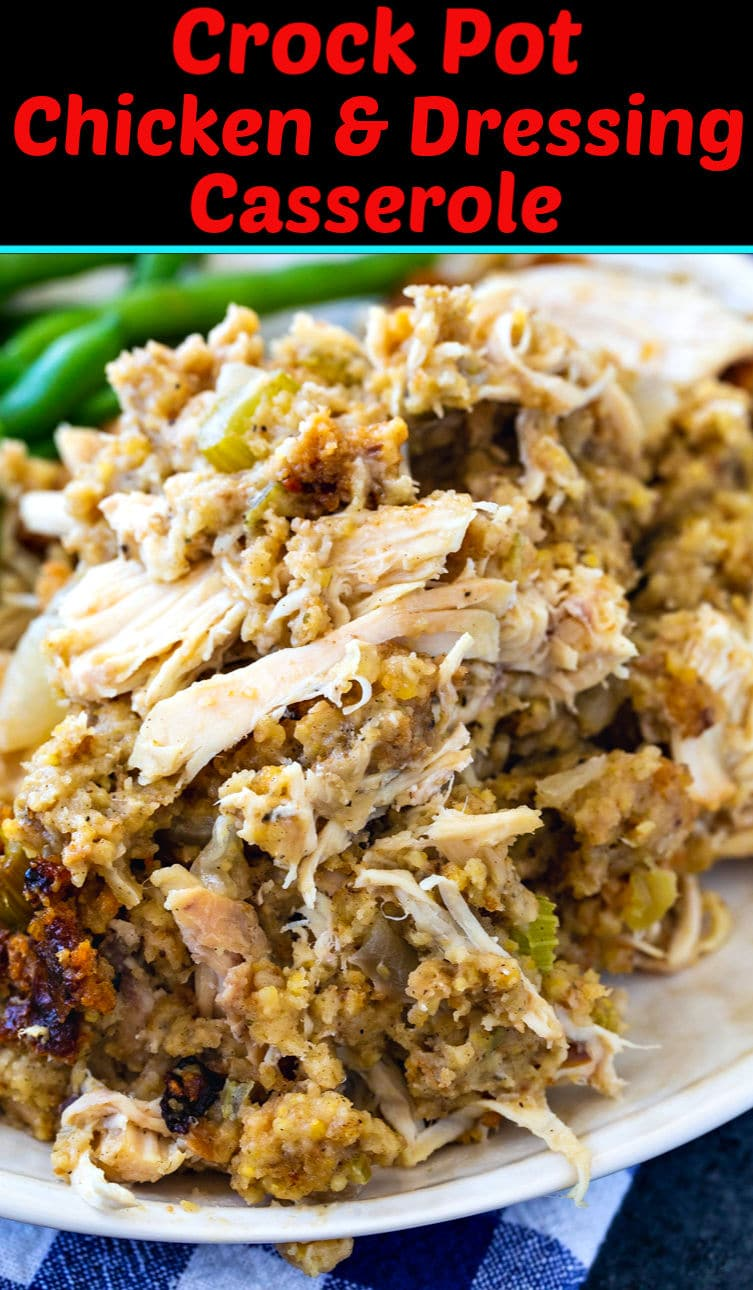 Crock Pot Chicken and Dressing Casserole