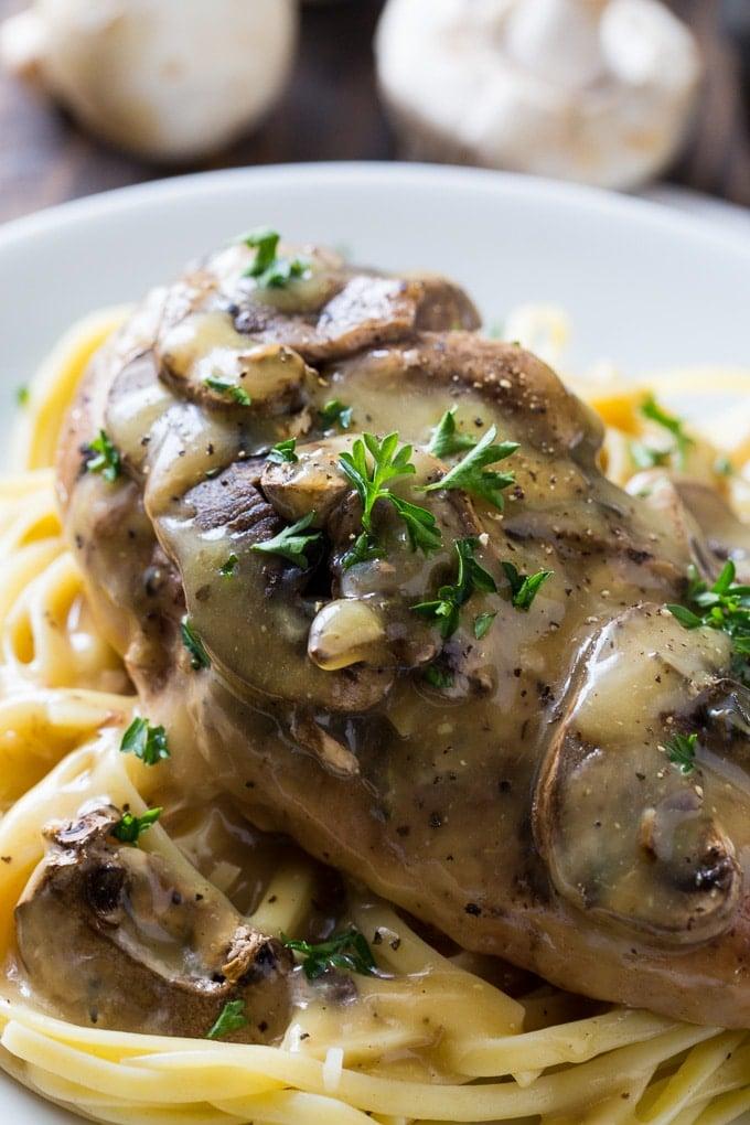 Crock Pot Chicken Marsala is so easy!