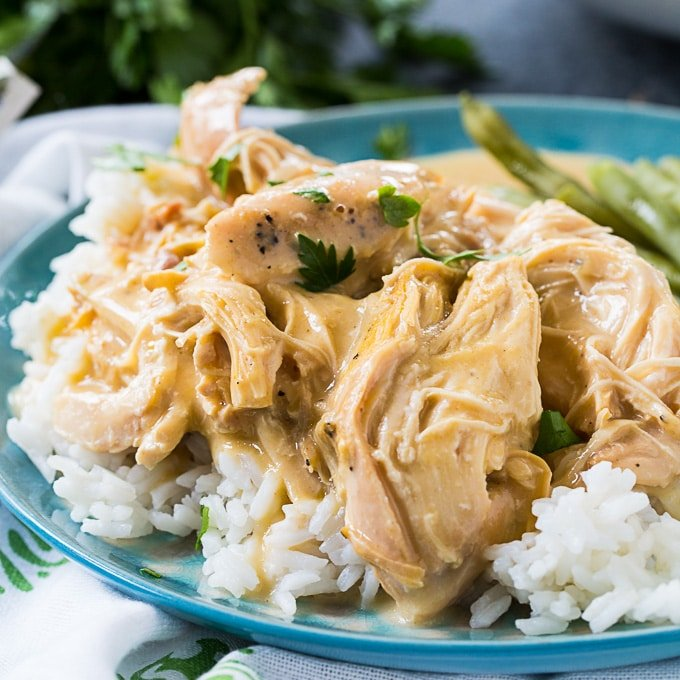 Crock Pot Chicken And Gravy Spicy Southern Kitchen