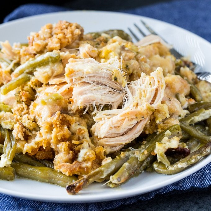 Crock Pot Chicken And Stuffing With Green Beans