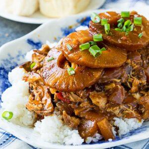 Crock Pot Sticky Hawaiian Chicken