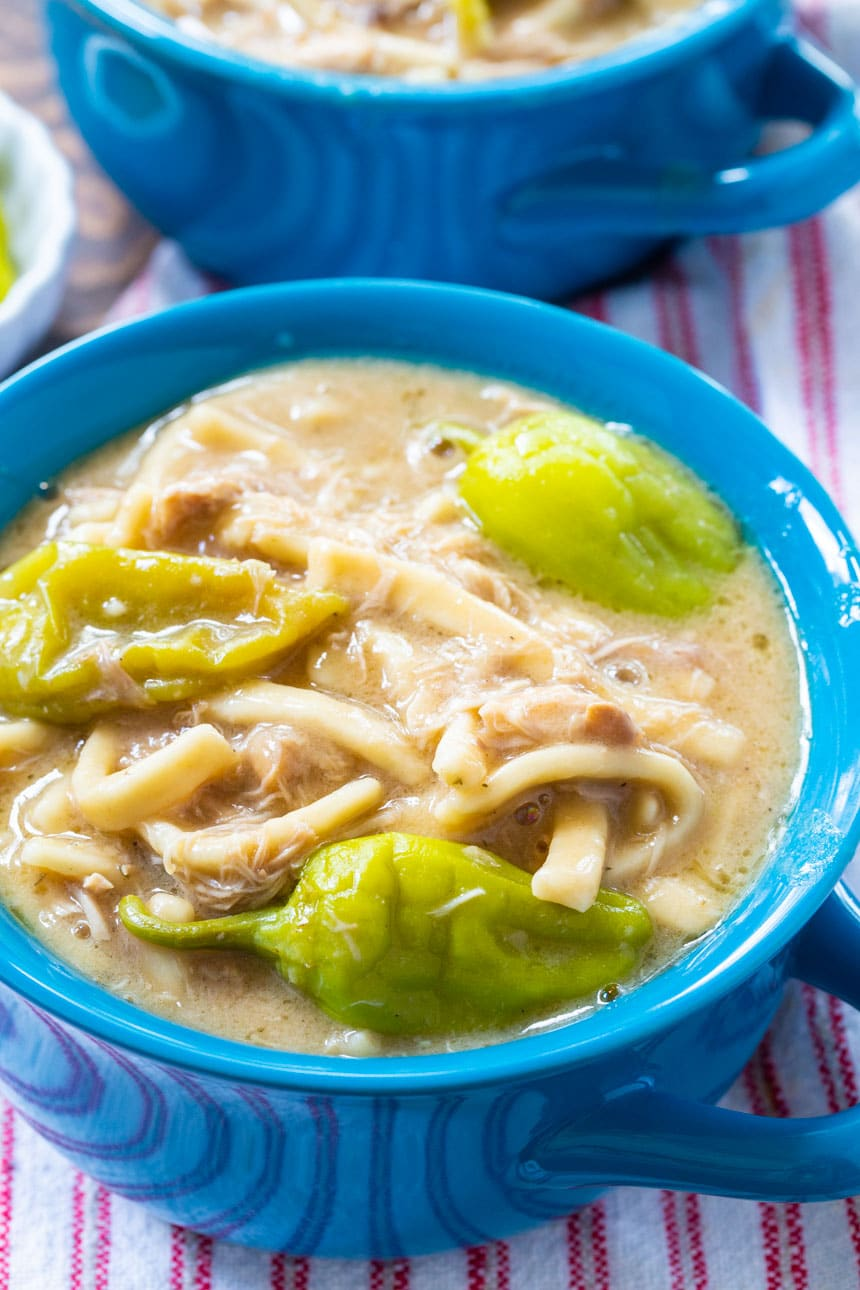 Slow Cooker Mississippi Chicken and Noodles