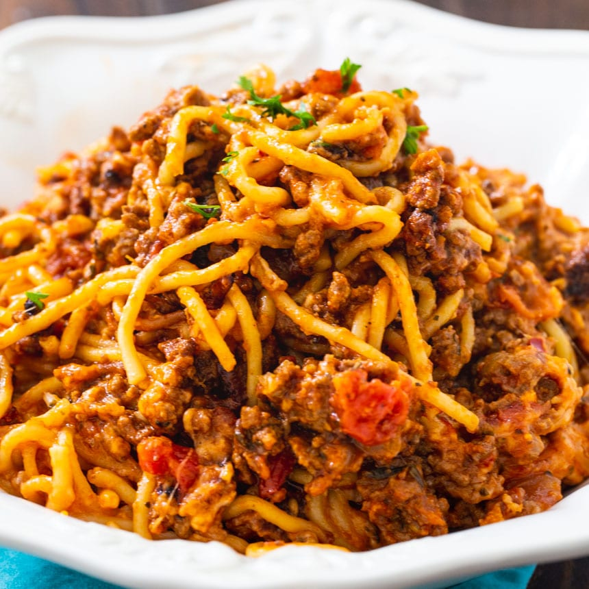 Crock Pot Spaghetti Casserole