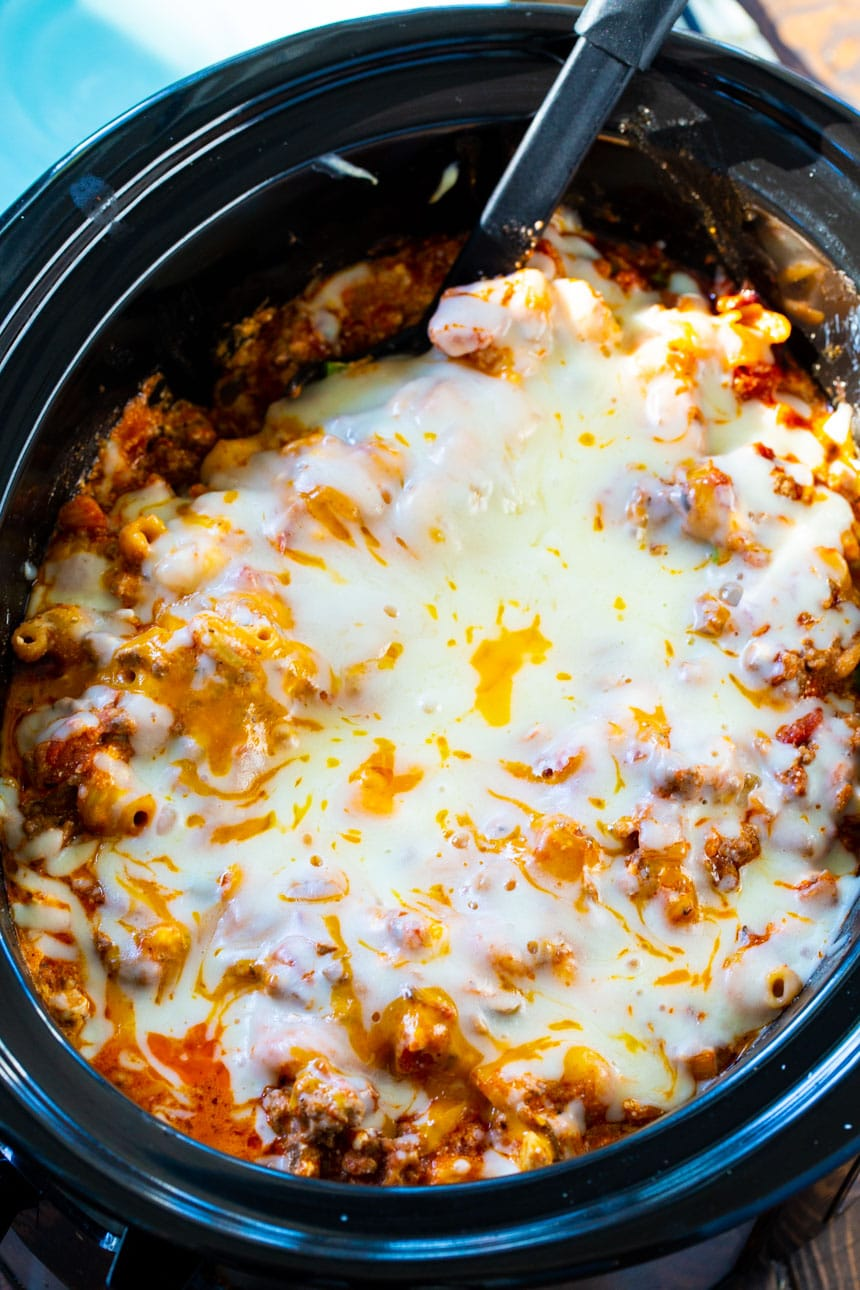 Ground Beef Casserole made in the slow cooker