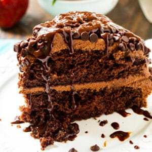 Slice of Easy Death by Chocolate Cake