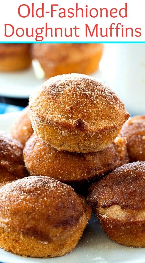 plate of doughut muffins