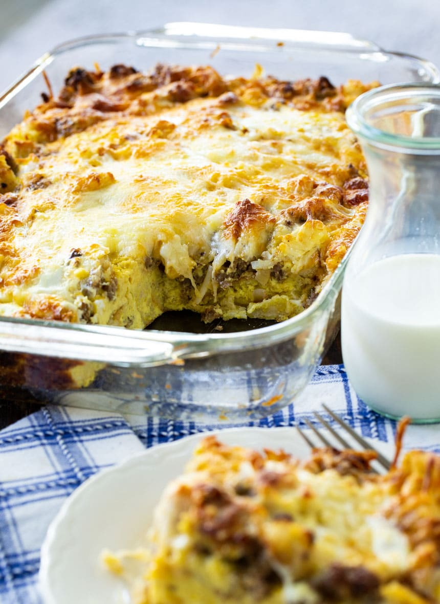 Sausage and Cheese English Muffin Breakfast Casserole