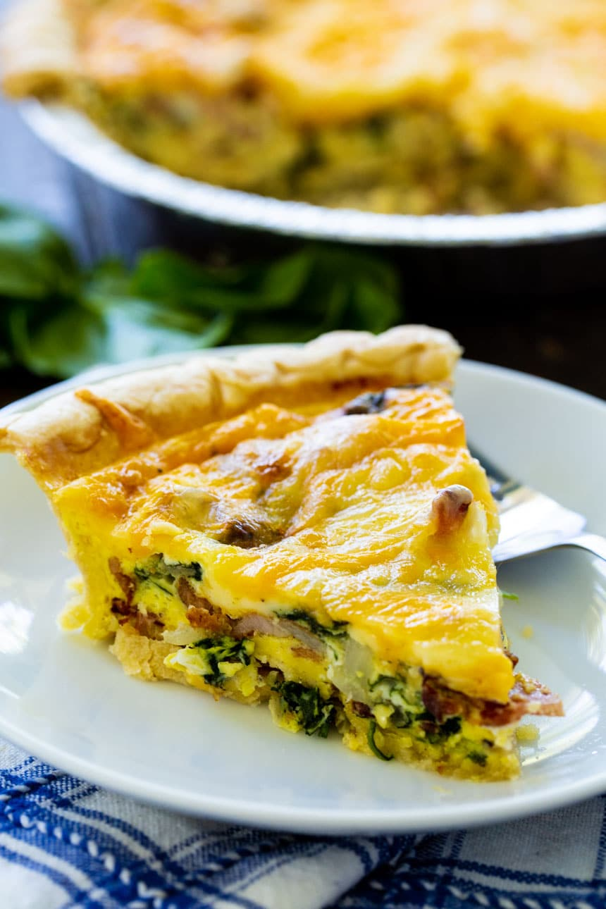 Slice of Bacon Floretine Quiche