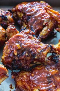 BBQ Grilled Chicken in a pan