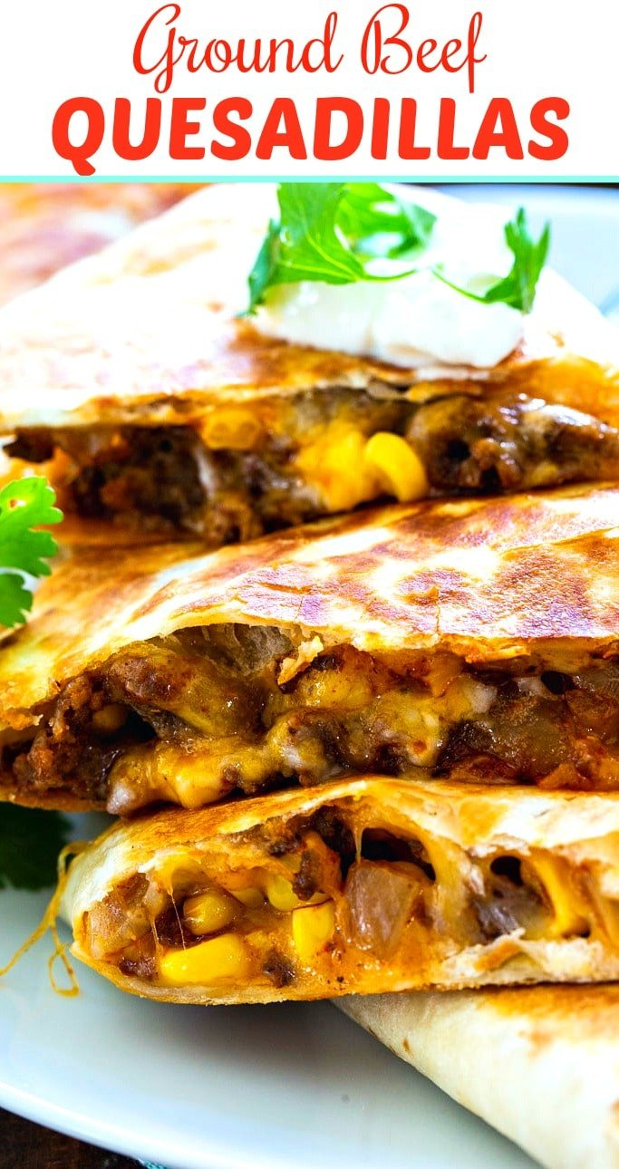 Ground Beef Quesadillas Spicy Southern Kitchen