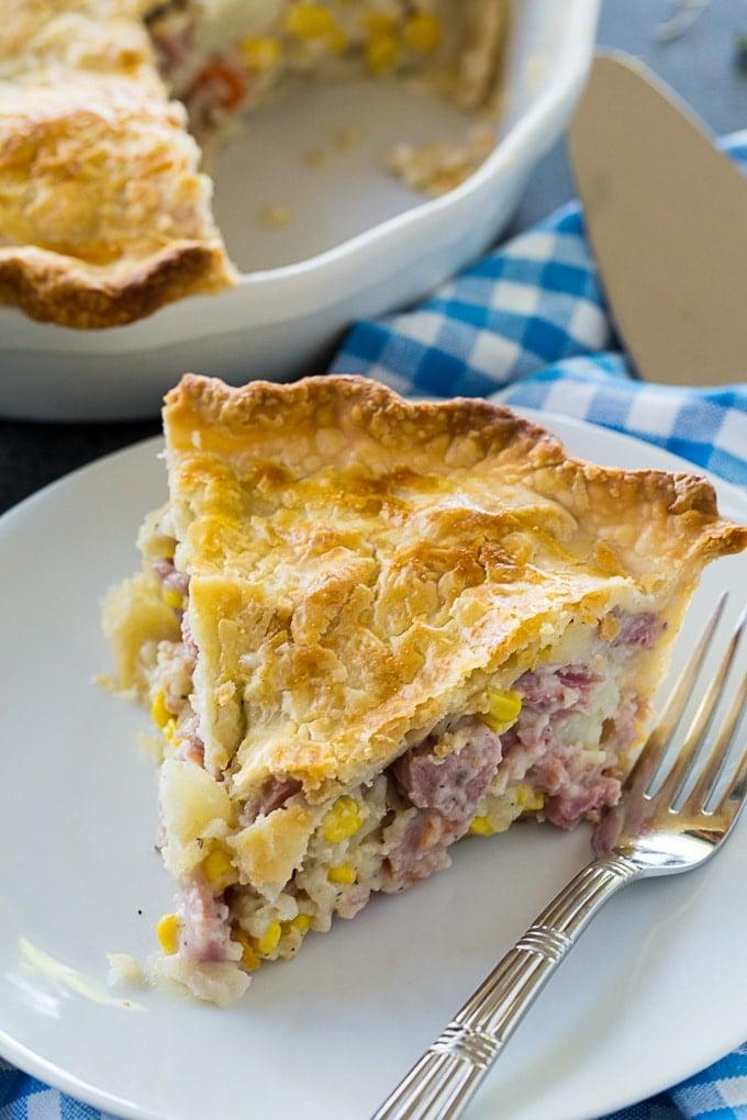 Ham Pot Pie with a double crust