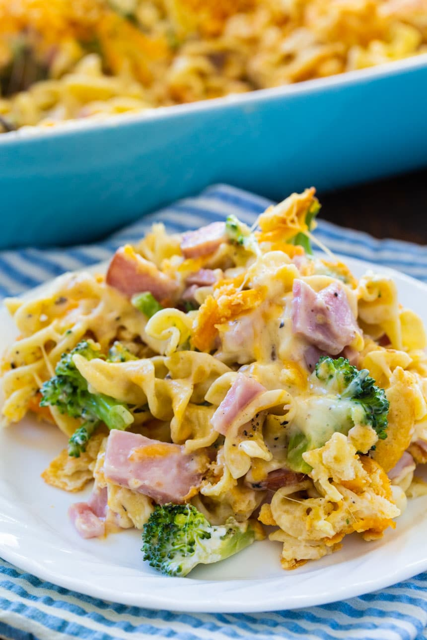 Ham and Noodle Casserole with Broccoli