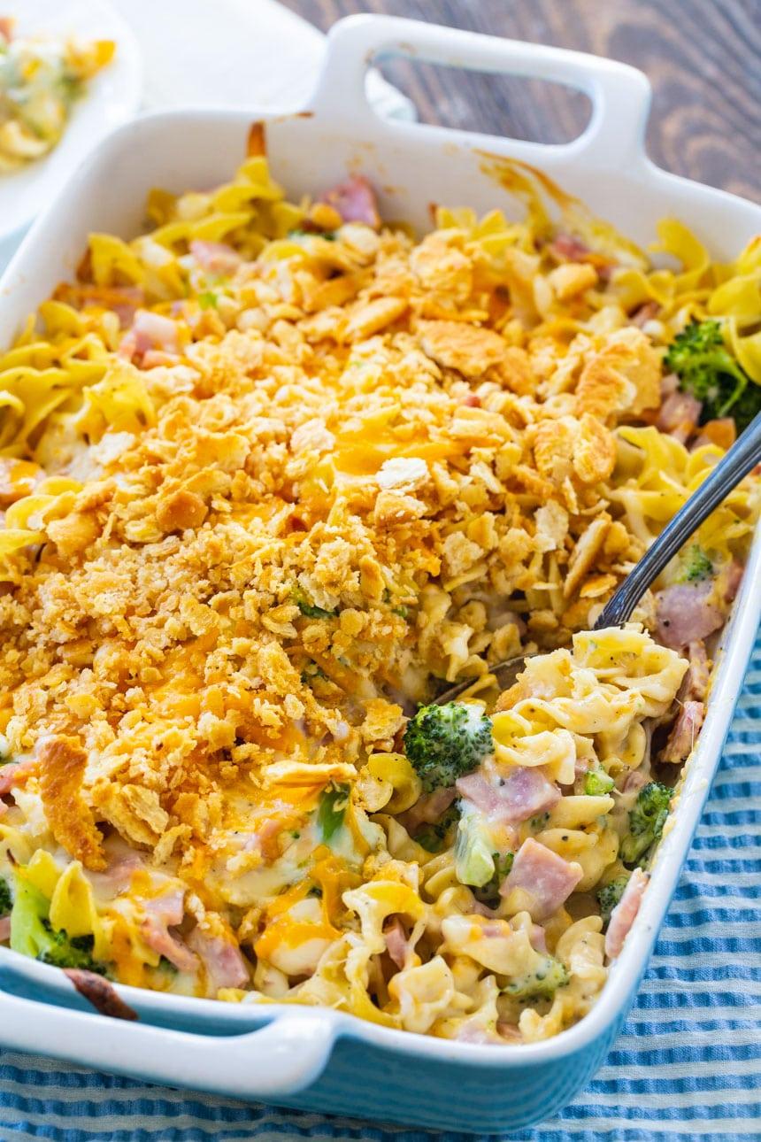 Ham, Broccoli, and Noodle Casserole