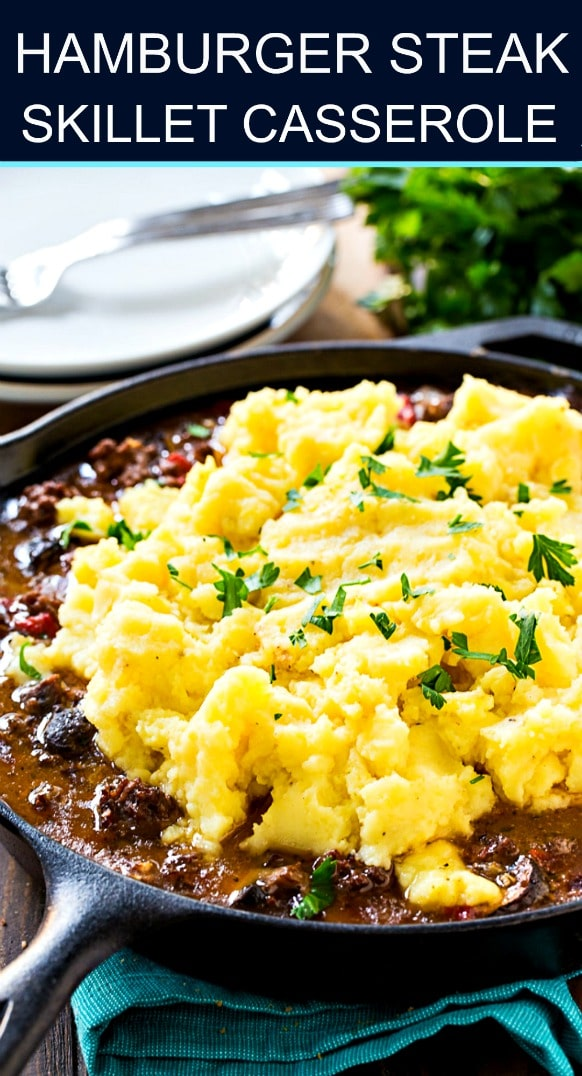 Hamburger Steak Skillet Casserole