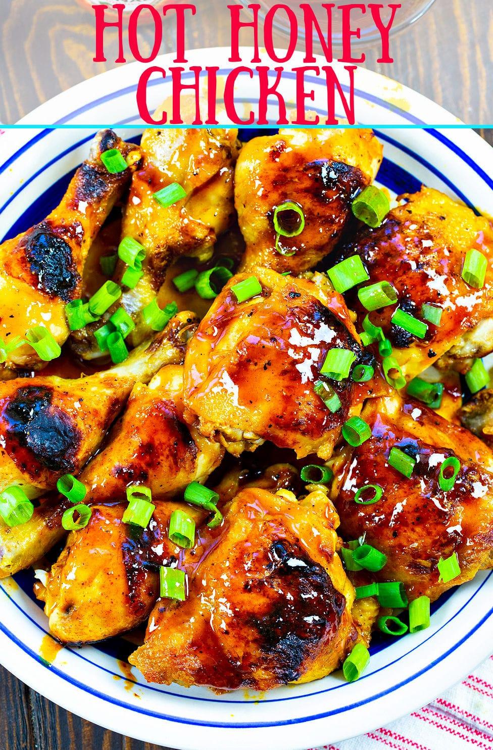 Hot Honey Chicken on a plate.
