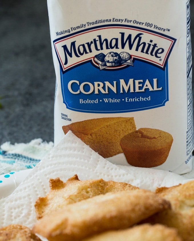 Hot Water Cornbread with Martha White cornmeal