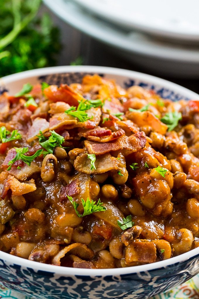 Hot and Spicy Black-Eyed Peas