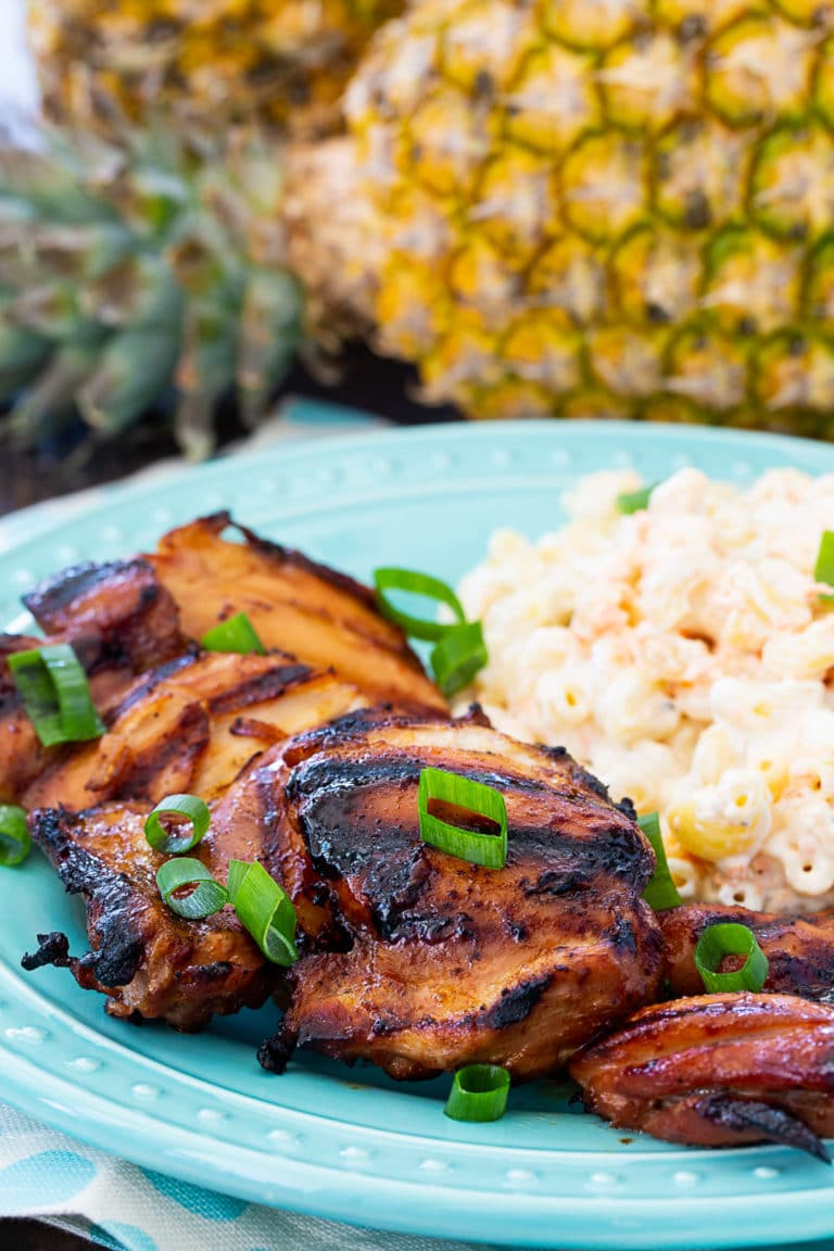 Grilled Huli Huli Chicken with Hawaiian Macaroni Salad