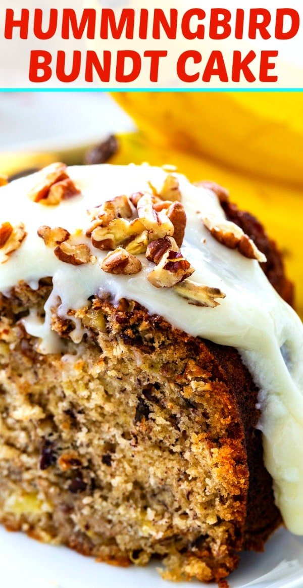 Hummingbird Bundt Cake with Cream Cheese Glaze