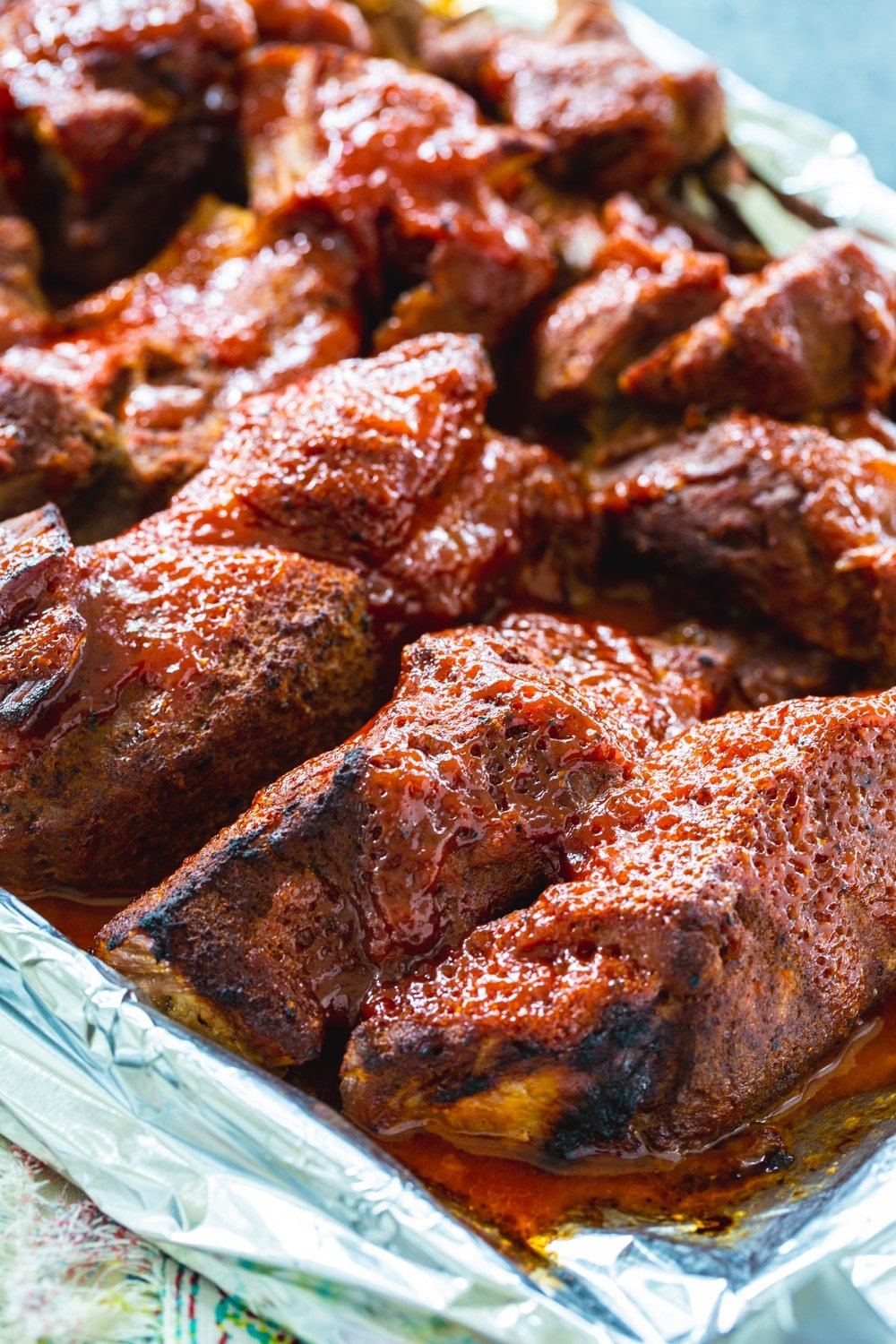 Country Style Ribs on baking sheet.