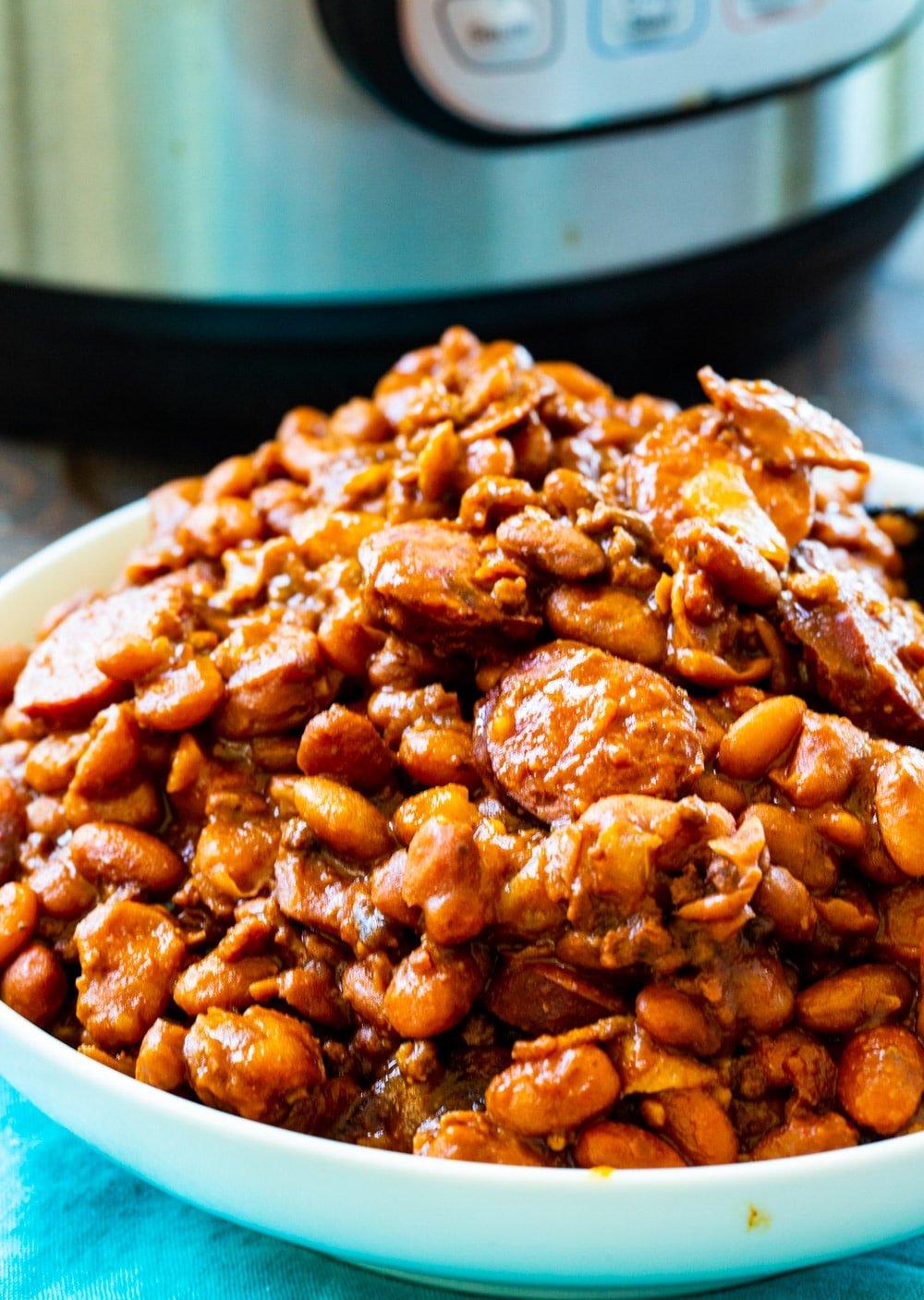 Instant Pot Cowboy Beans in a bowl.