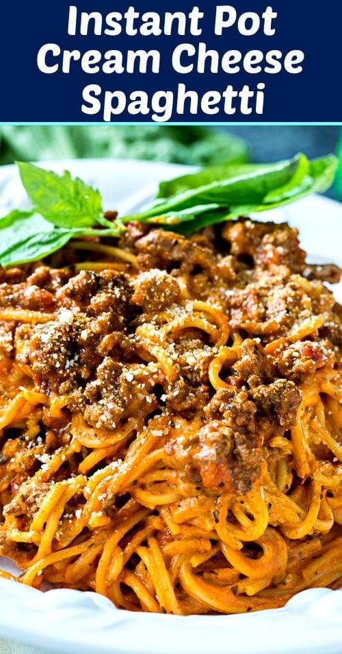 Instant Pot Cream Cheese Spaghetti #instantpot #pasta