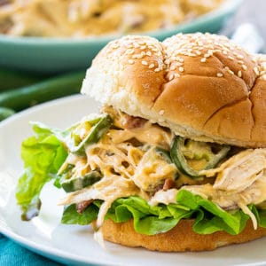 Jalapeno Popper Shredded Chicken Sandwich