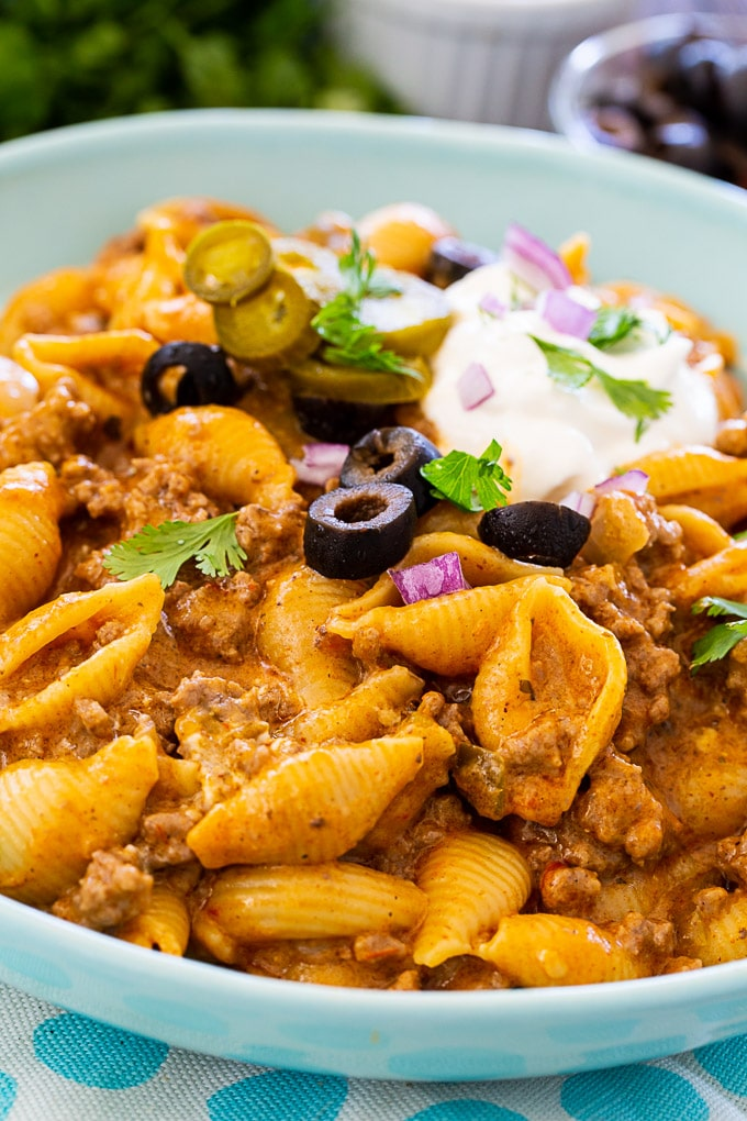 Taco Pasta cooked in the Instant Pot