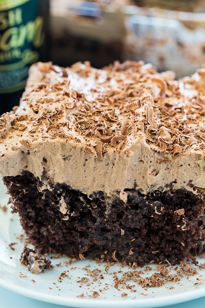 Irish Cream Poke Cake