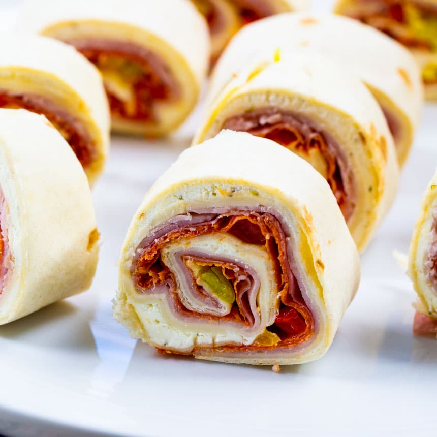 Spicy Italian Pinwheels