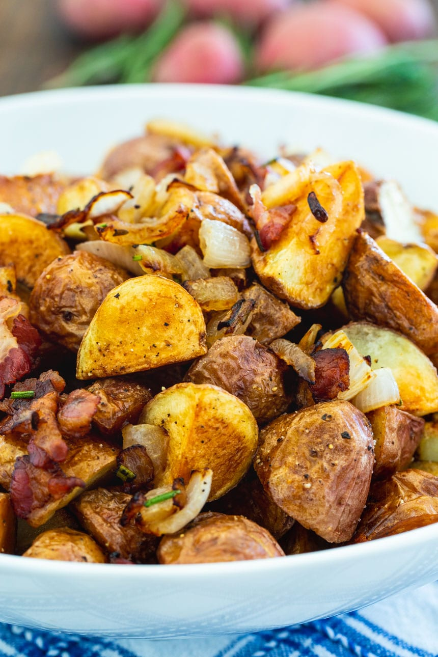 close-up of Italian Roasted Potatoes