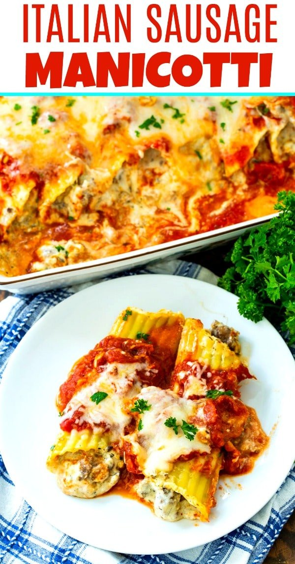Italian Sausage Manicotti