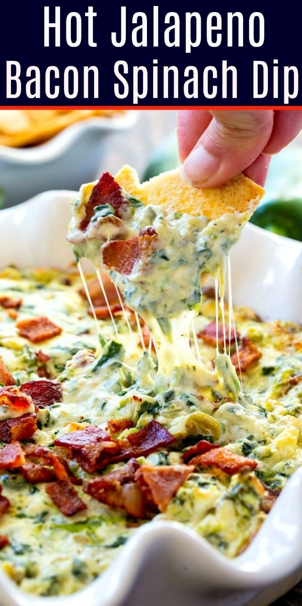 Hot Jalapeno Bacon Spinach Dip