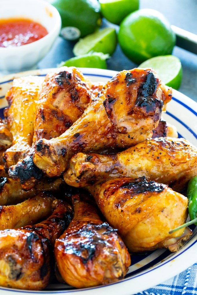 Grilled Jalapeno Lime Chicken Drumsticks