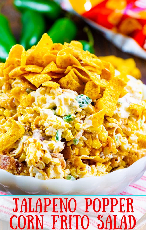 Jalapeno Popper Corn Frito Salad close-up.