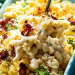Baked Jalapeno Popper Mac and Cheese