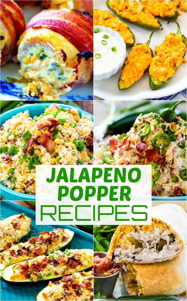 collage of jalapeno popper recipes