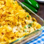 Tuna Noodle Casserole in baking dish.