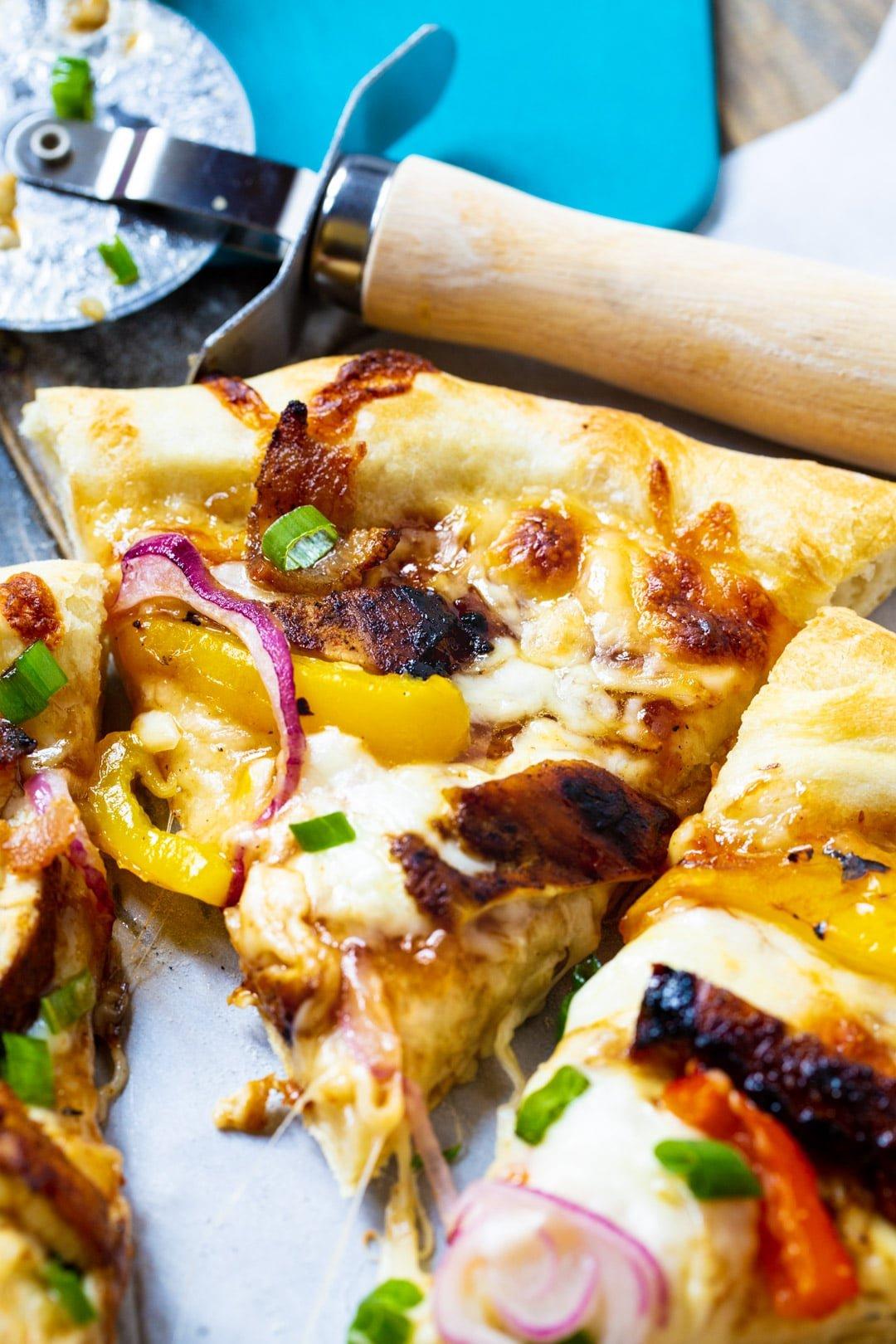 Slice of Jamaican Jerk Chicken Pizza.