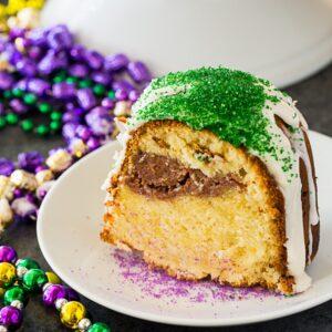 Mardi Gras Pound Cake